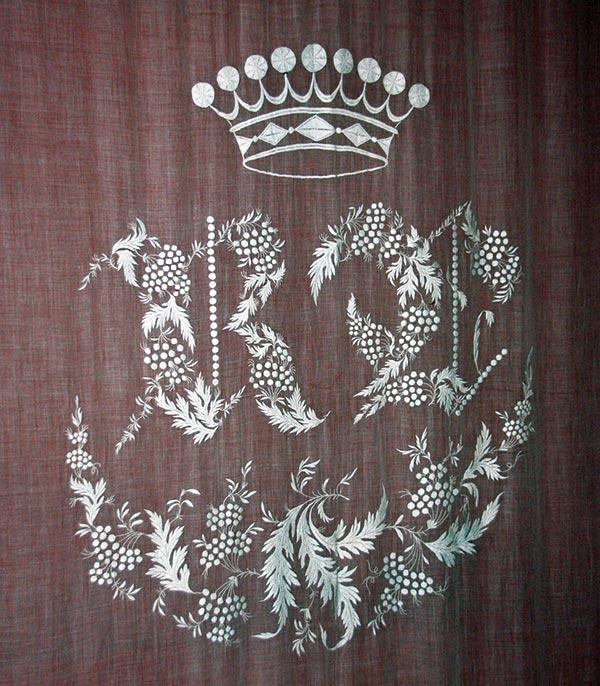 Blason visible au château de Lanquais
