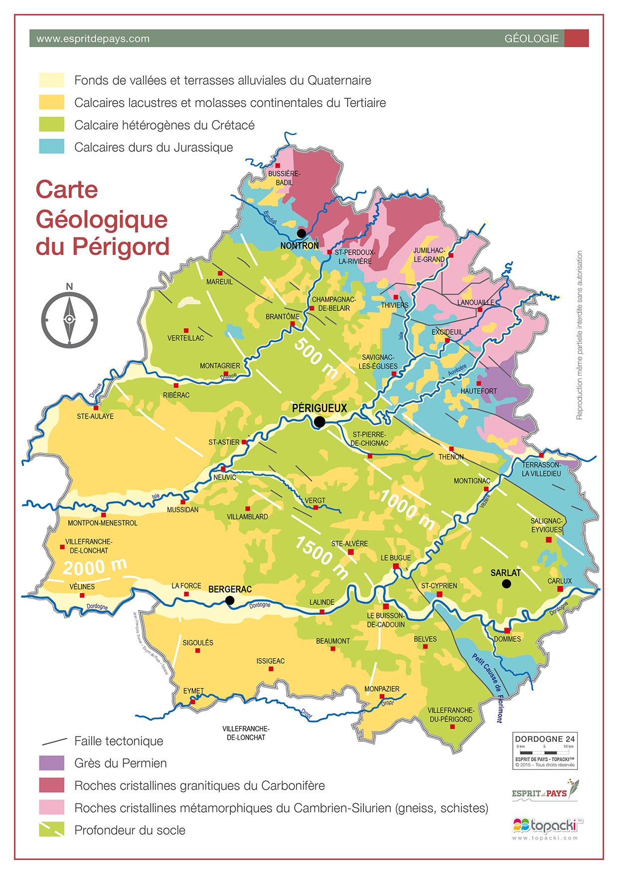 Cartographie : géologie du Périgord