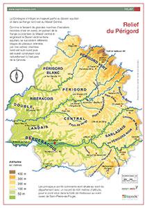 Le relief du département de la Dordogne