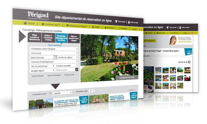Réservez votre camping sur le site de réservation en ligne Perigord Tourisme Dordogne