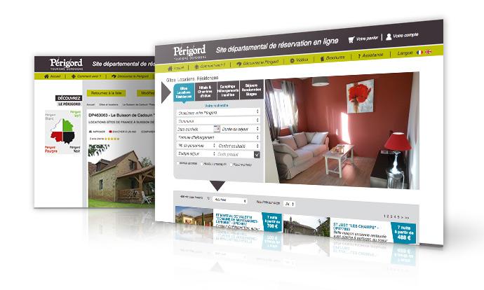 Réservez votre location saisonnière, gîtes ou chambres d'hotes, sur le site de réservation en ligne Perigord Tourisme Dordogne