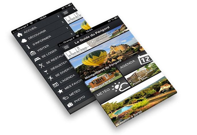 Trouverez toutes les bonnes adresses de la région grâce à l'application smartphone du Guide du Périgord