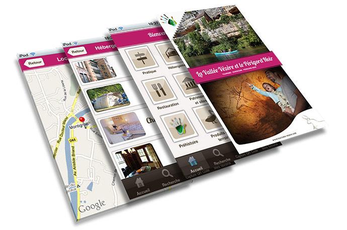 Accédez à toutes les informations pratiques pour votre séjour dans le Périgord Noir grâce à l'application smartphone