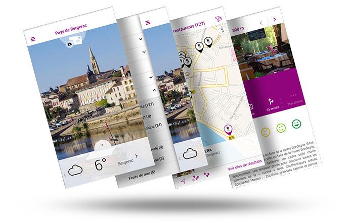 outes les informations nécessaires à votre séjour en Pays de Bergerac sont désormais disponibles sur votre mobile