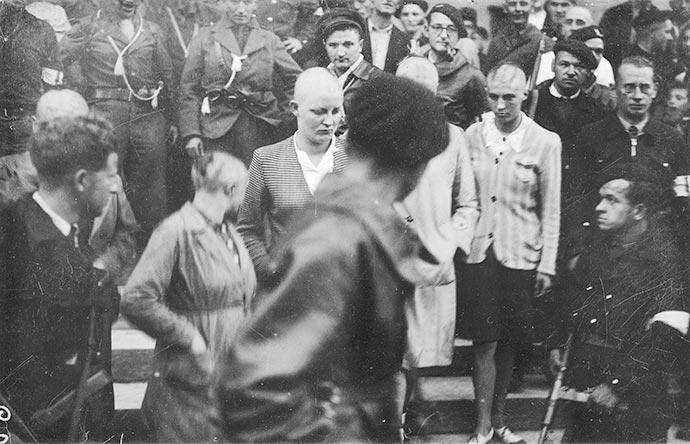 La forte présence de résistants armés, entourant les tondues, « légitime » et « légalise » les tontes de Bergerac, septembre 1944.