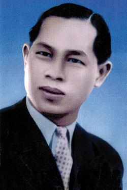 Bernard Vu Quang Huy, à son arrivée à Bergerac, en 1947