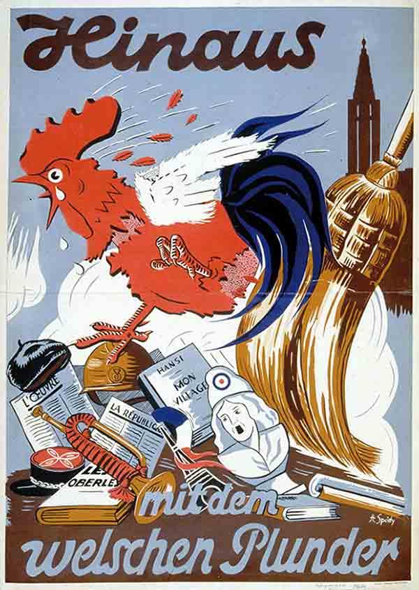 Dehors le fatras français!, affiche d'Alfred Spaety, 1941 Coll. H. Solveen
