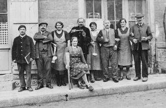 refugies-alsaciens-cantine-monpazier-1939