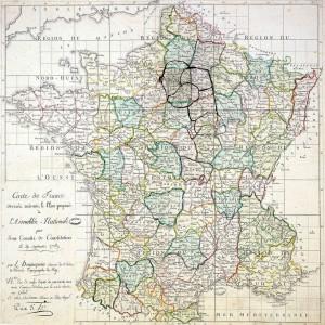 Découpage des départements français en 1789