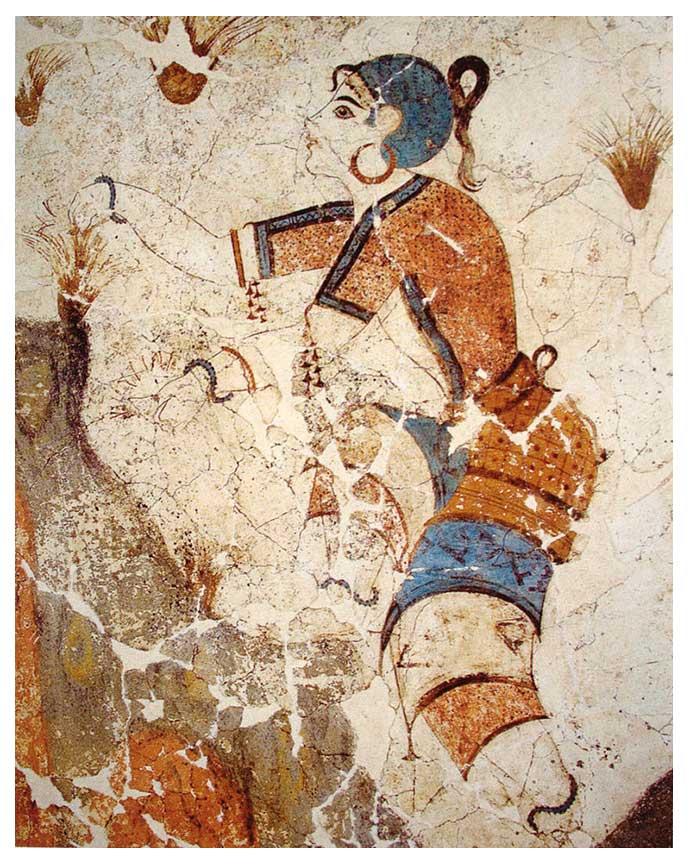 Cueilleuse-safran-fresque-Akrotiri-Grece