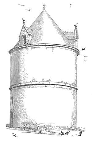 Dessin d'un colombier –Eugène Violet-le-Duc