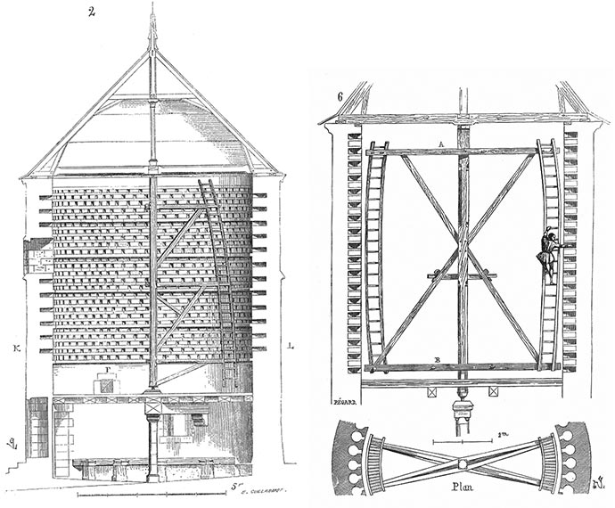 L'architecture d'un Pigeonnier d'après un croquis de Viollet-le-Duc