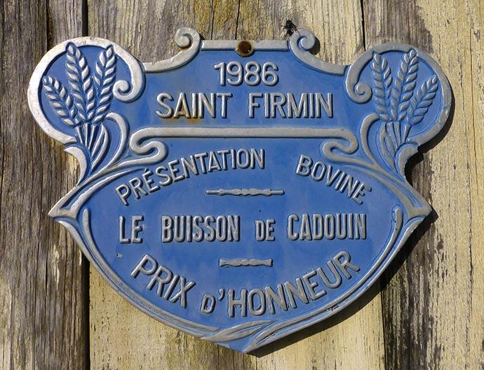 La plaque de la foire de la Saint Firmin