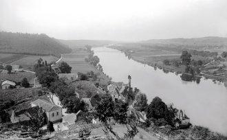 Vue sur la Dordogne depuis le château de Badefols, collection Christian Bourrier