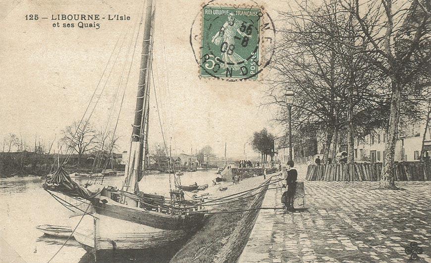 La navigation sur l'Isle, les quais à Libourne
