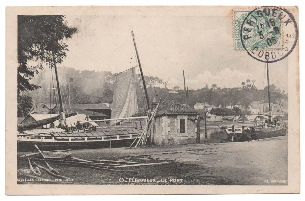La navigation sur l'Isle au port de Périgueux – Cliquez pour agrandir