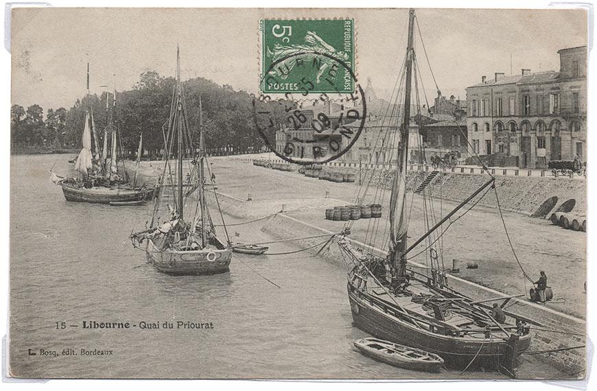 Activité batelière au port de Libourne