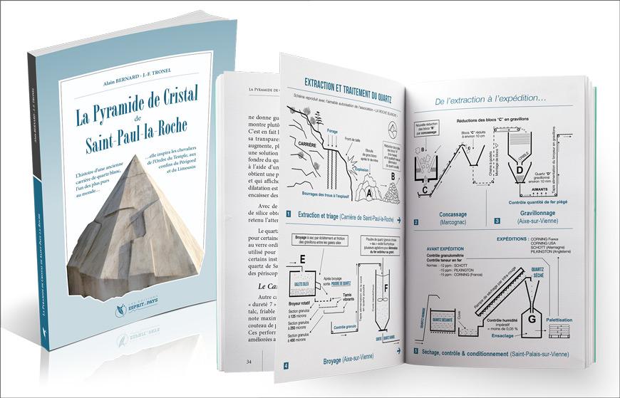 « La Pyramide de Cristal de Saint-Paul-la-Roche », un livre d'Alain Bernard et JF Tronel, aux Éditions Esprit de Pays
