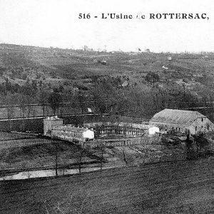 L'ancienne usine de Rotterac à Couze en Dordogne